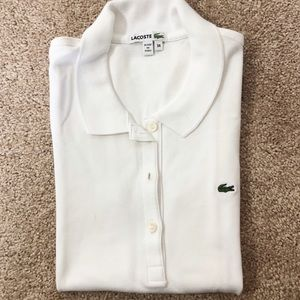 Lacoste White Polo Top with Buttons